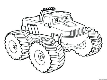 440x330 Monster Truck Coloring Pages Bigfoot Plus Easy Monster Truck