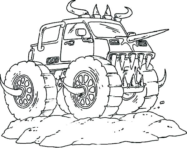 600x473 Precious Monster Truck Coloring Pages Printable Bigfoot Plus Easy