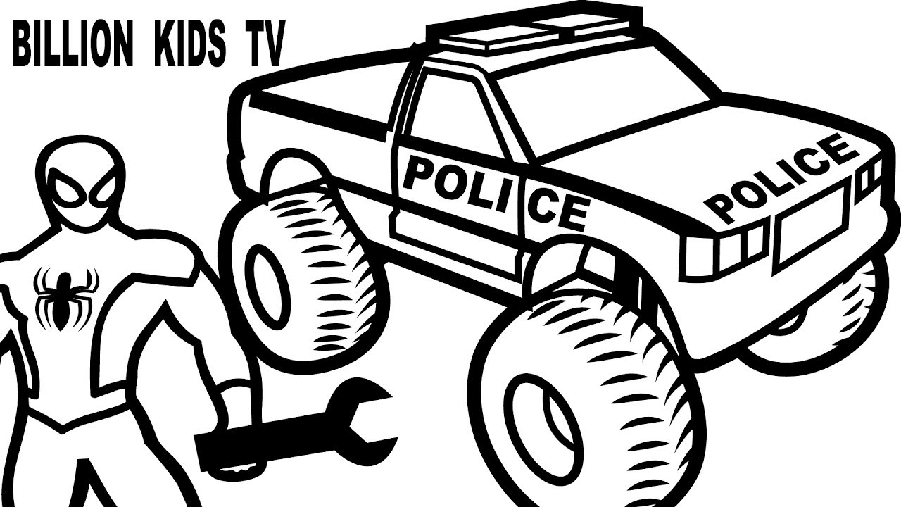 1280x720 Printable Monster Truck Coloring Pages For Kids Color Pictures