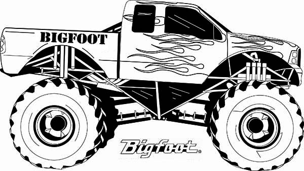 600x337 Amazing Bigfoot Monster Truck Coloring Pages Ideas Diy Coloring Page