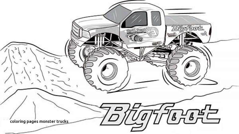 960x540 Truck Printable Coloring Pages Monster Trucks Printable Coloring