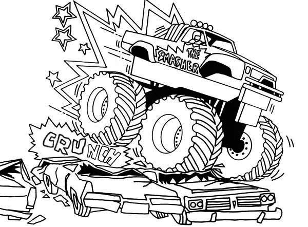 600x442 Bigfoot Monster Truck Coloring Pages Coloring Pages