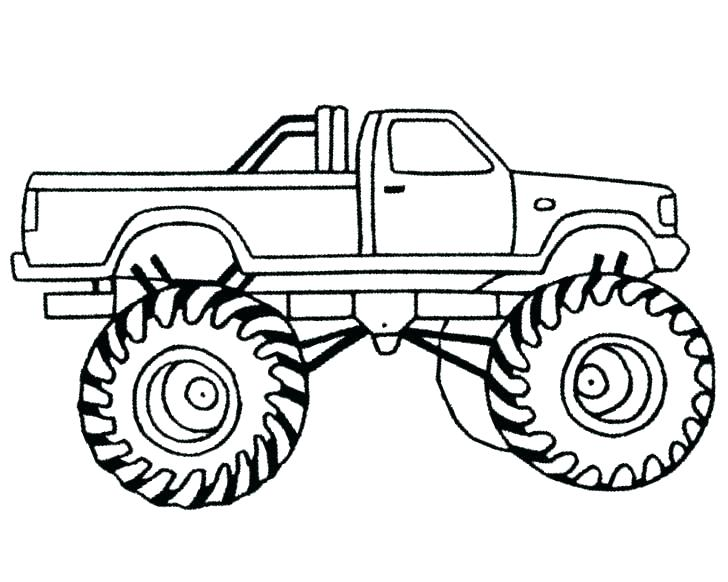 728x582 Bigfoot Monster Truck Coloring Pages