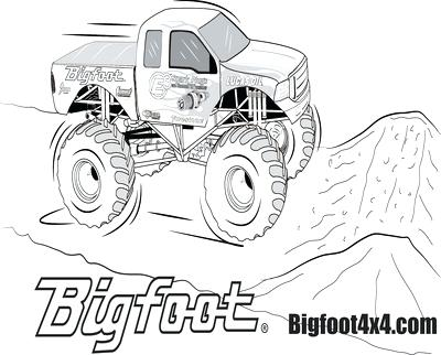 400x322 Bigfoot Monster Truck Coloring Pages