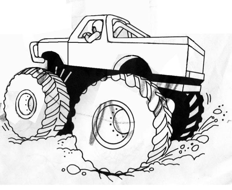 800x656 Free Printable Monster Truck Coloring Pages For Kids Bigfoot
