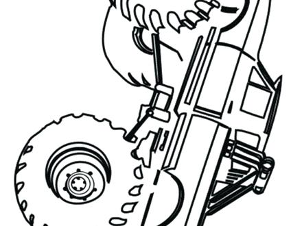 440x330 Bigfoot Coloring Pages Monster Truck Coloring Page Free Coloring