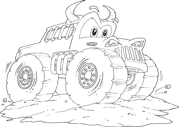 592x422 Bigfoot Coloring Pages Monster Truck Coloring Pictures And Monster
