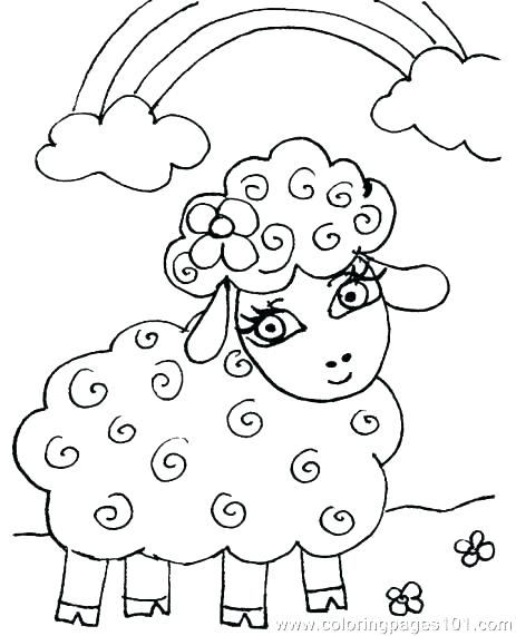 463x571 Coloring Pagessheep Lamb Coloring Page Mother Sheepnd Lamb