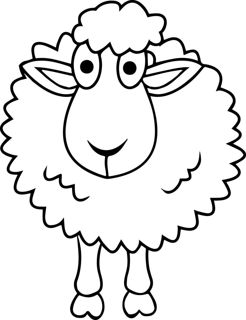 787x1024 Cute Small Sheep Coloring Page Free Printable Pages Animals