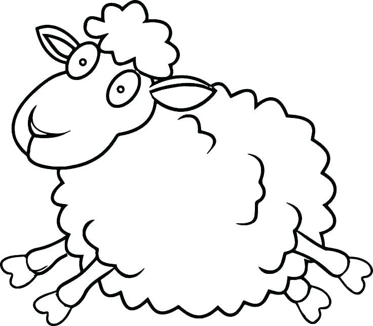 736x644 Sheep Coloring Page The Sheep Coloring Pages Printable And All