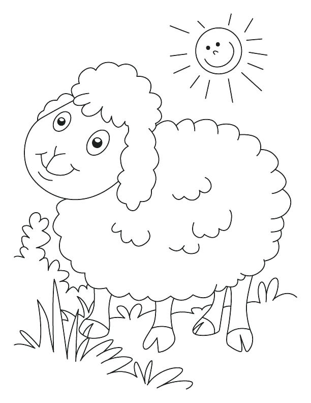 612x792 Sheep Coloring Page