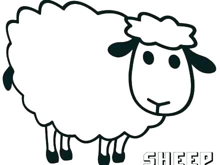 440x330 Coloring Pages Lost Sheep Coloring Page Sheep Baby Pages Preschool