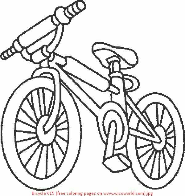 600x637 Bicycle Coloring Pages Preschool Bike Coloring Page