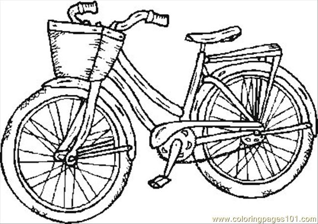 650x458 Bike Coloring Pages Printable
