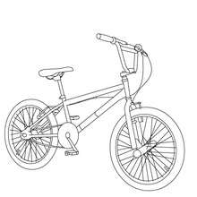 220x220 Bmx Bike Color In Coloring Pages