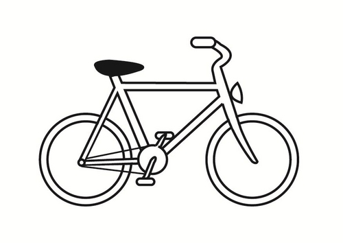 500x354 Free Bicycle Coloring Pages