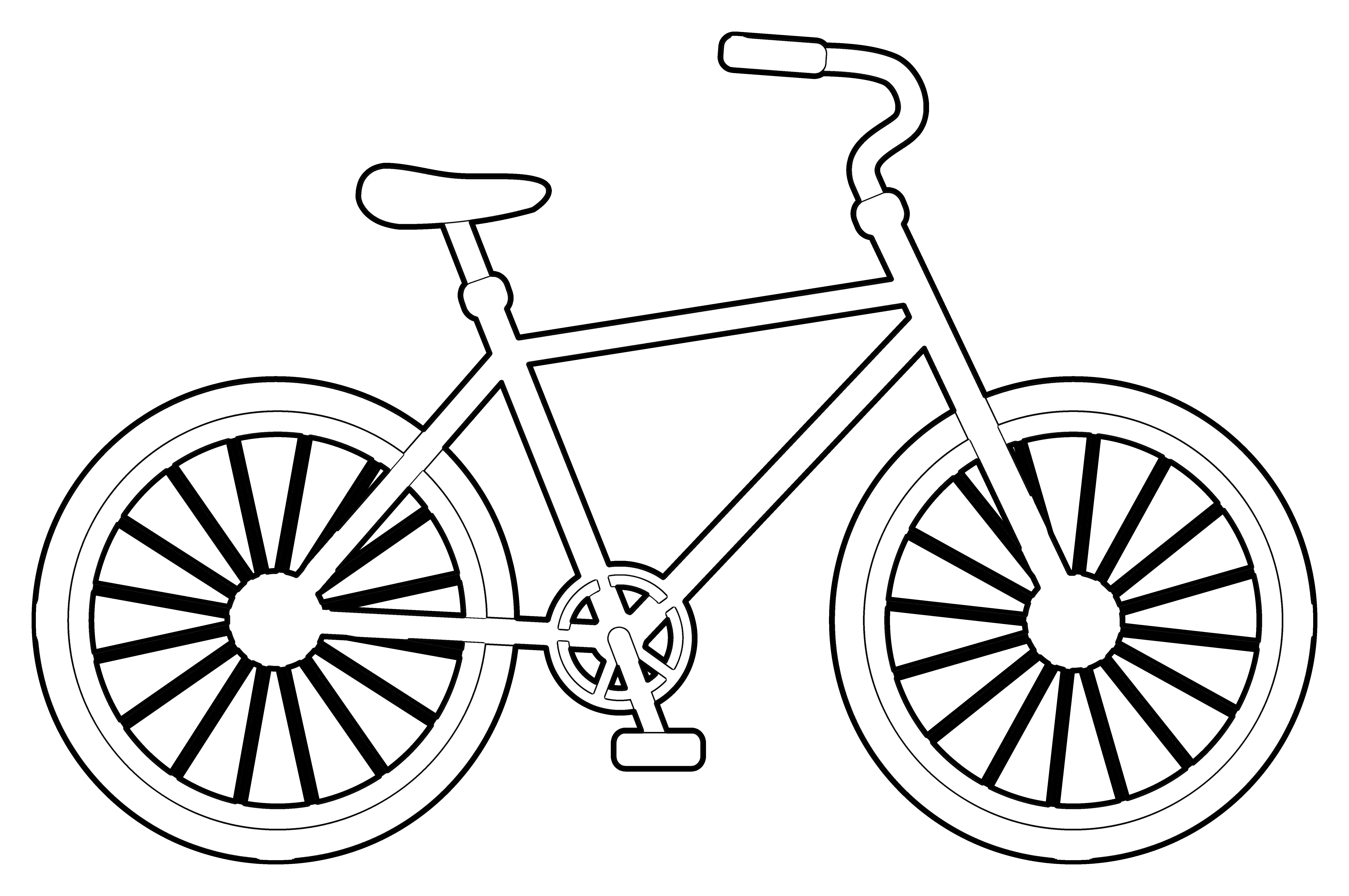 6659x4424 Unique Bicycles Coloring Pages Design Printable Coloring Sheet