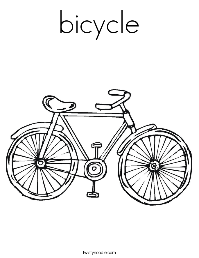 685x886 Bicycle Coloring Page
