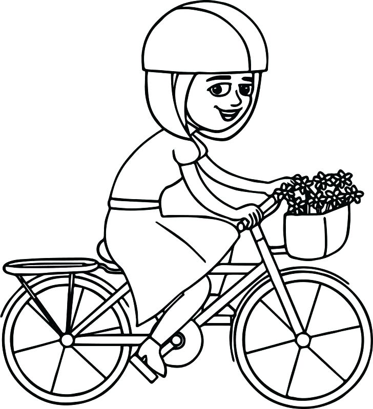 728x799 Bicycle Coloring Pages Bicycle Coloring Pages Interesting Dirt