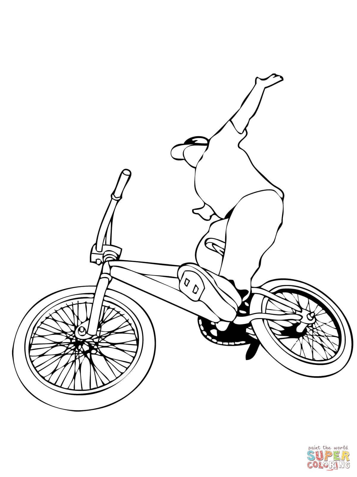 1200x1600 Color Bmx W Superheroes Spiderman Coloring Pages For Toddler Bike