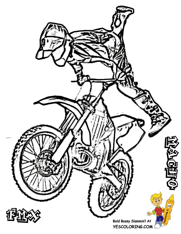 612x792 Dirt Bike Coloring Pages Inspirational Dirt Bike Coloring Pages