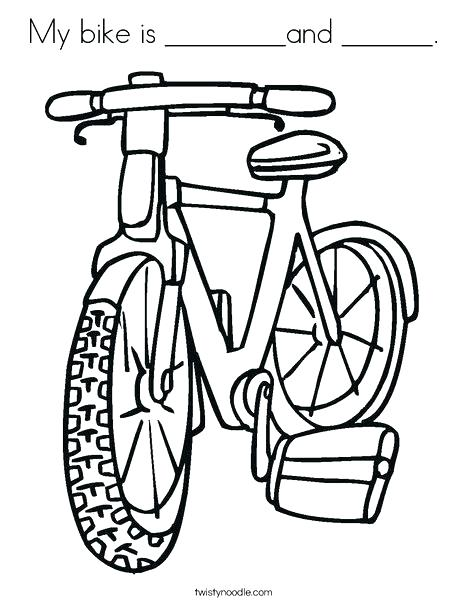 468x605 Dirt Bike Helmet Coloring Pages Bicycle Coloring Page Kids Bike