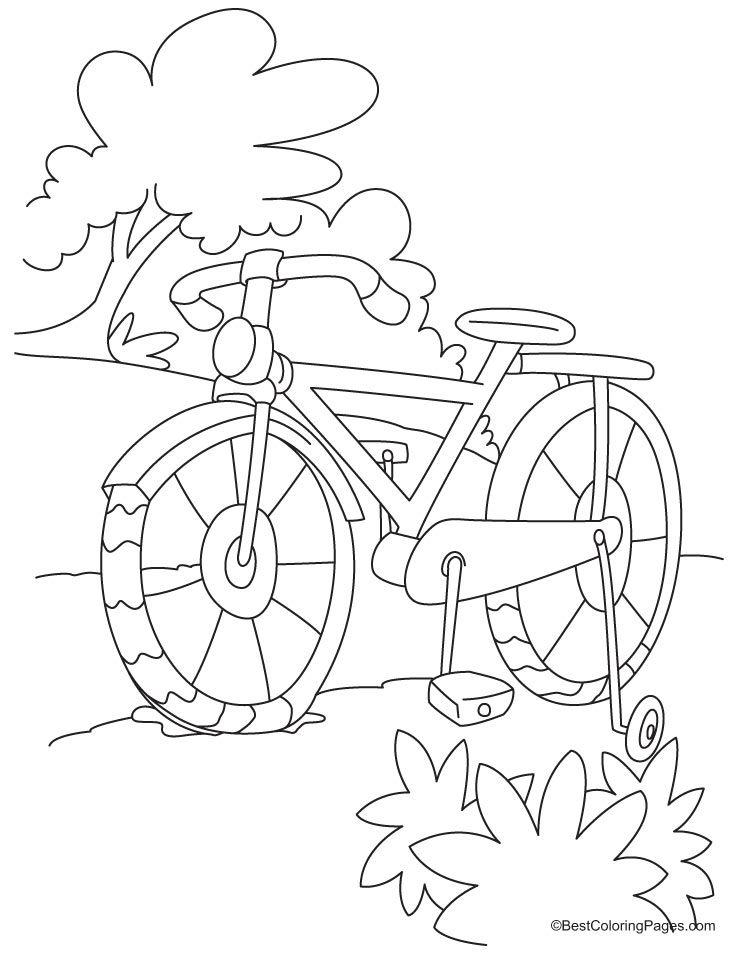 738x954 Full Length Kids Bike Coloring Page Darajah