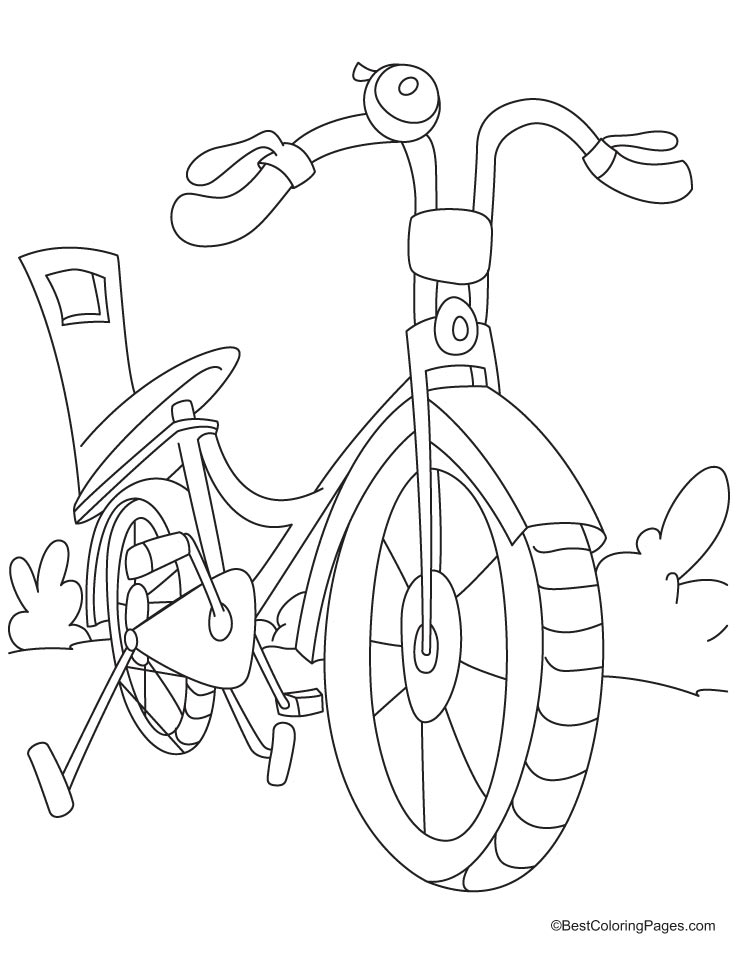 738x954 A Small Kids Bicycle Coloring Sheet Kid Coloring Pages