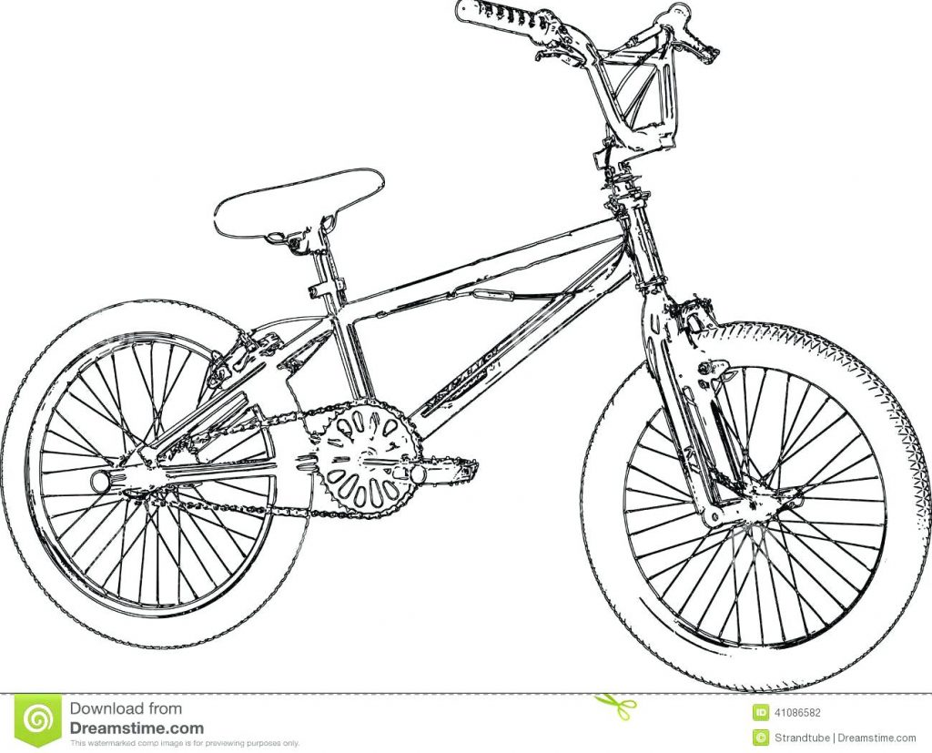 1024x827 Coloring Page Bicycle Coloring Pages Bike Page Picture Download