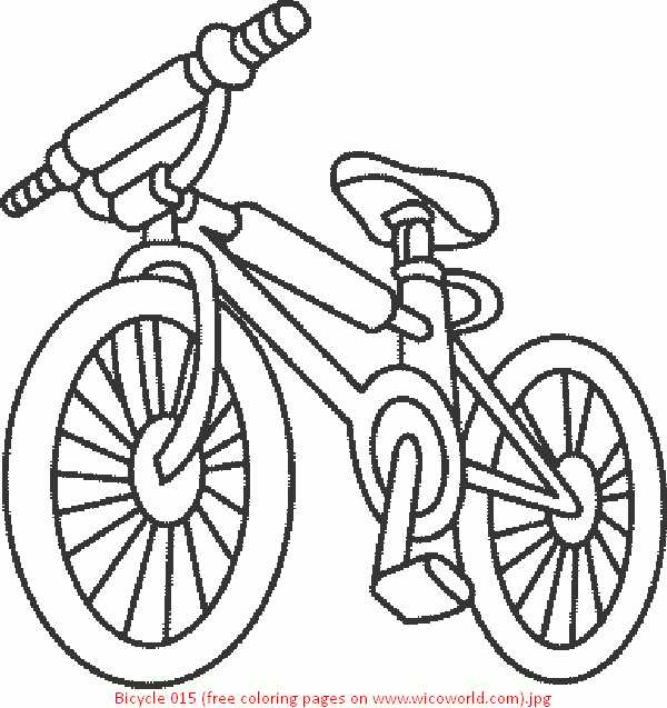 600x637 Bike Coloring Page