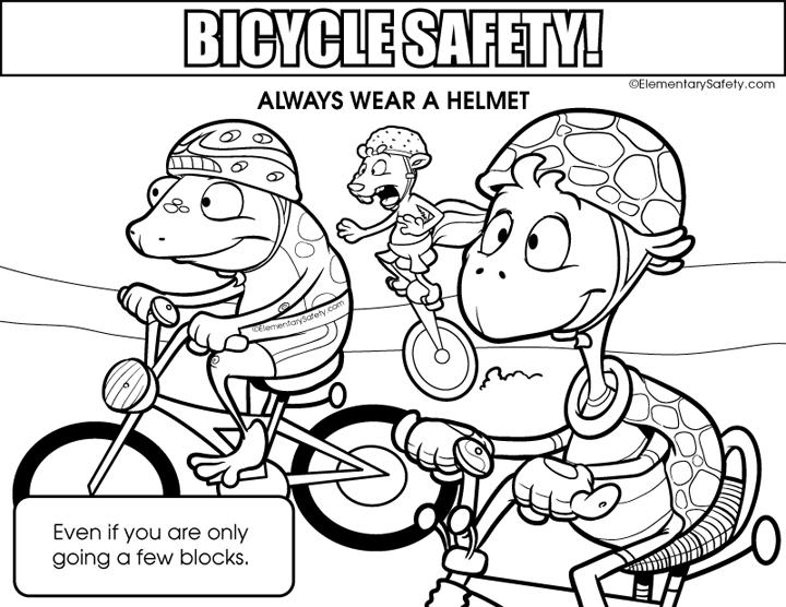 Bike Helmet Coloring Page