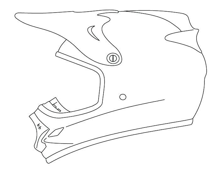 707x554 Bike Helmet Coloring Page
