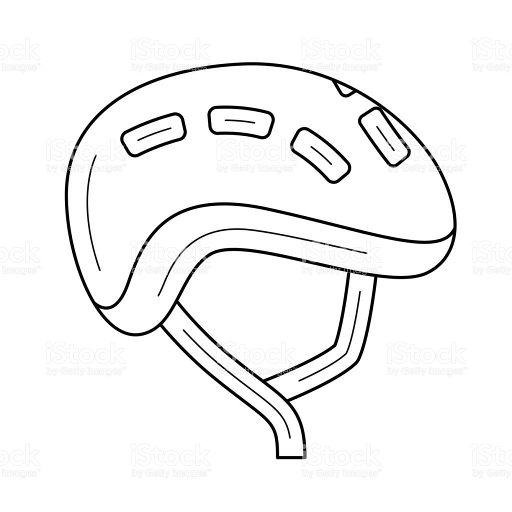 1024x1024 Bike Helmet Coloring Page Awesome Bike Helmet Line Icon Stock