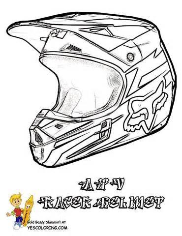 370x480 Dirt Bike Helmet Coloring Page Sketch Template Bike Life