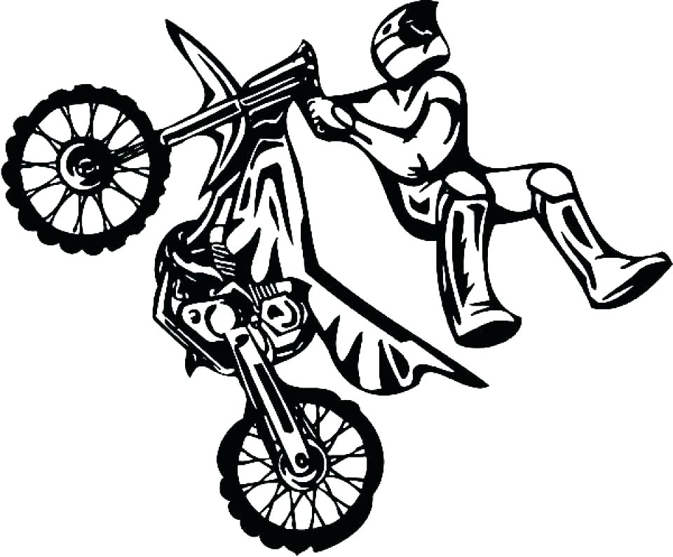 960x795 Dirt Bike Helmet Coloring Pages Bicycle Page For Toddler Free