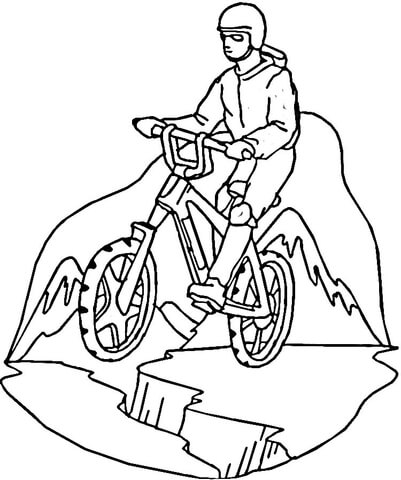 401x480 Mountain Biking With Bicycle Safety Also Bike Helmet Coloring Page