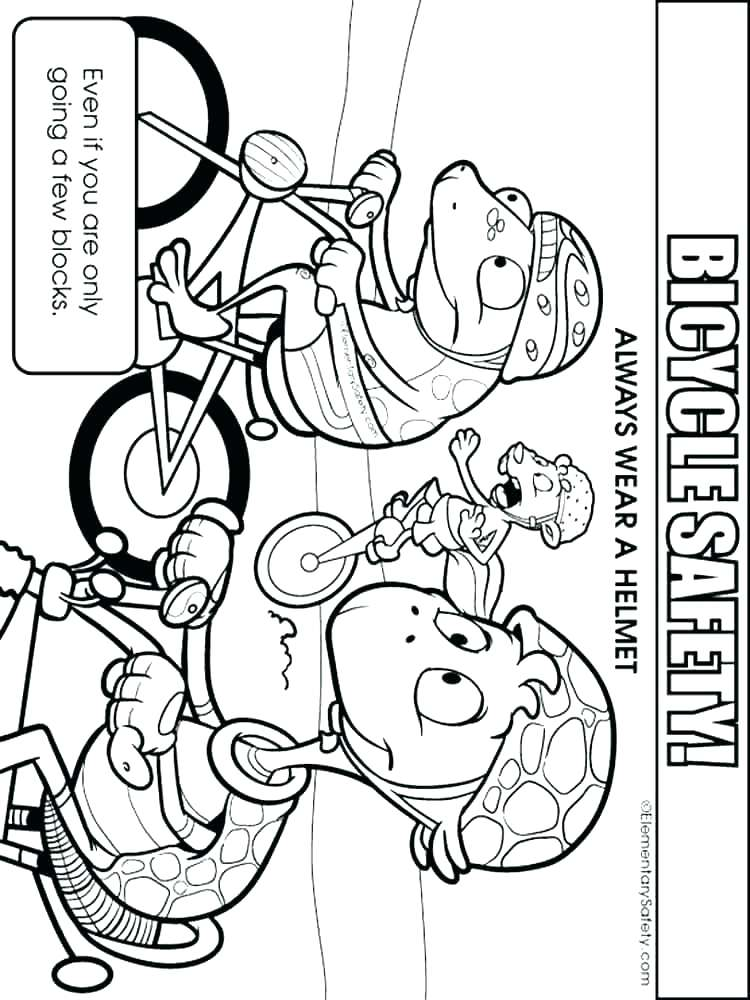 750x1000 Safety Coloring Pages Bike Safety Coloring Pages Bike Helmet