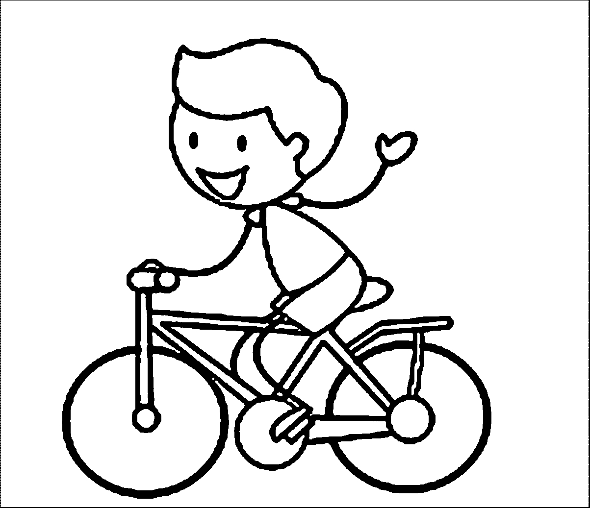Bike Riding Coloring Pages