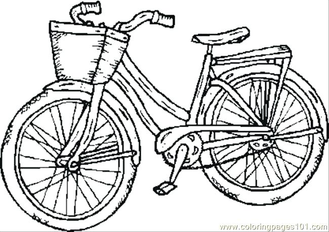 650x458 Bike Coloring Pages Old Bike Coloring Page Bike Riding Coloring