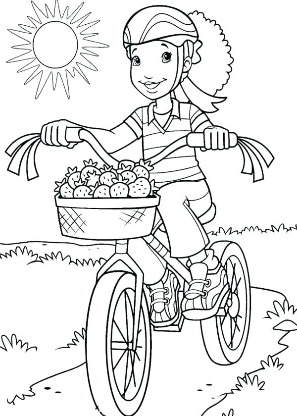 600x840 Bike Safety Coloring Pages Bike Coloring Pages Holly Riding Bike