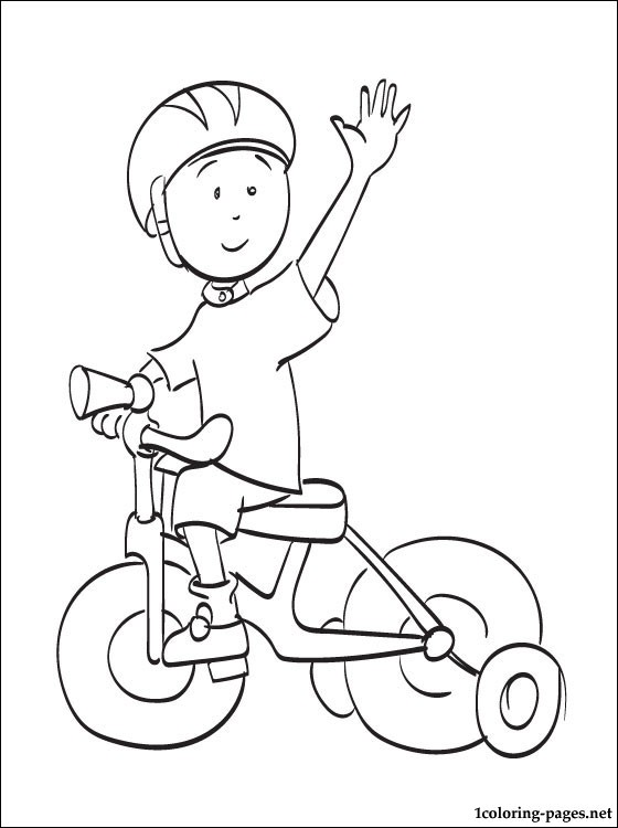 560x750 Caillou Riding A Bike Coloring Page Coloring Pages