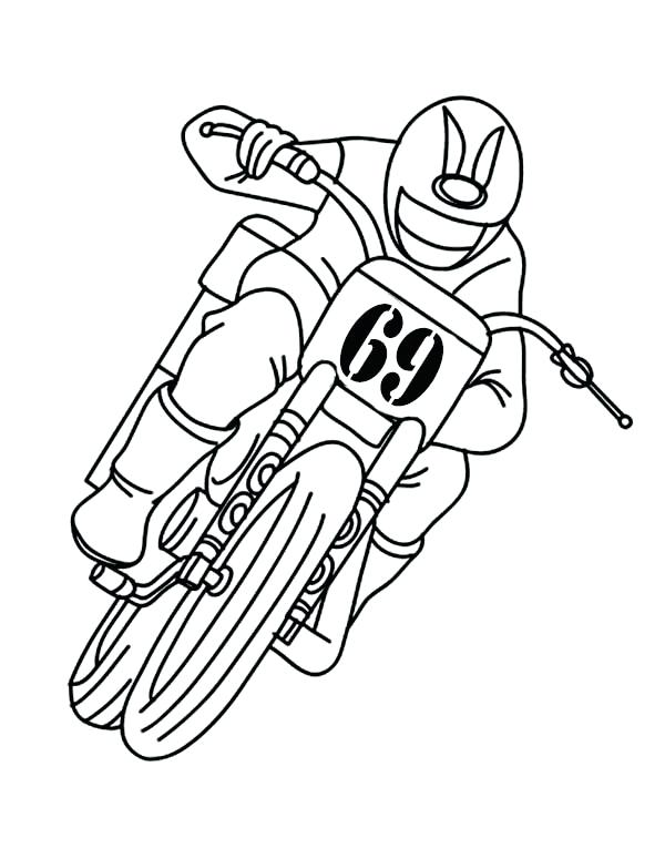 600x775 Dirt Bike Coloring Page Dirt Bike Riding Dirt Bike With Only One