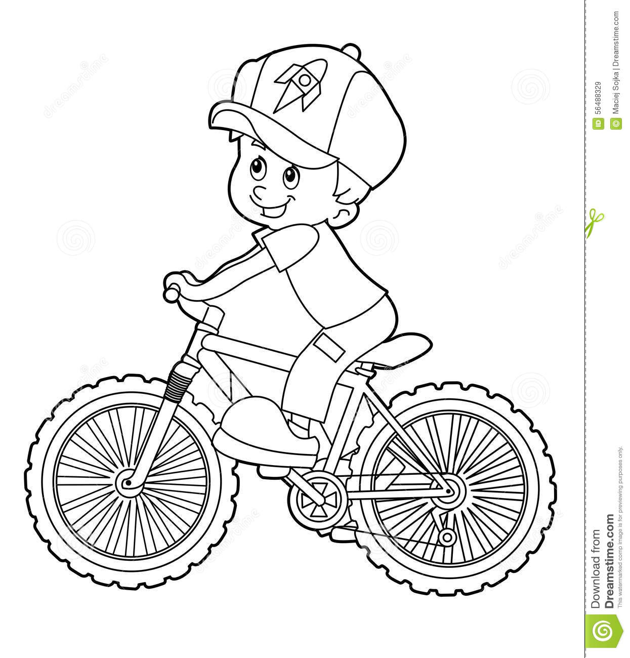 1245x1300 Girl Rides A Bicycle Coloring Page For Kids Spring Pages