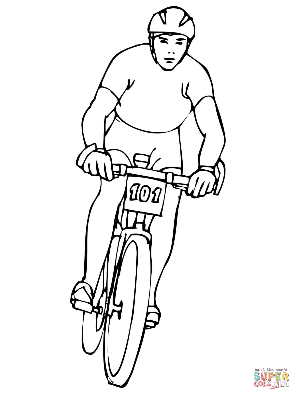 1200x1600 Riding Mountain Bike Coloring Page Bicycle