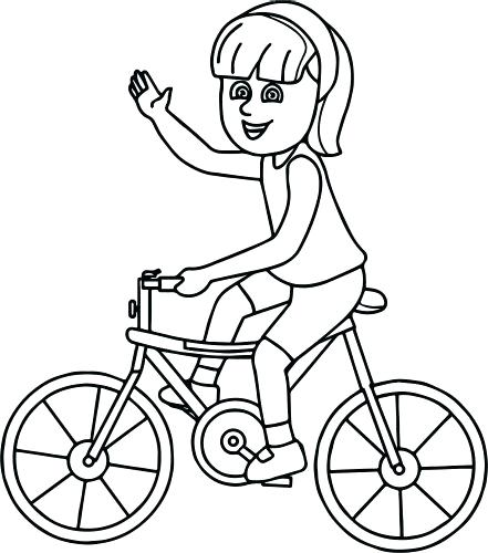 441x500 Bicycle Colouring Pages Printable Coloring Coloring Page Bicycle