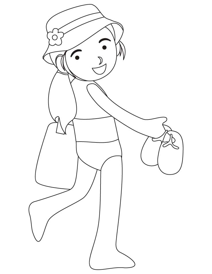738x954 Girl Wearing Swimsuit Coloring Pages Download Free Girl Wearing