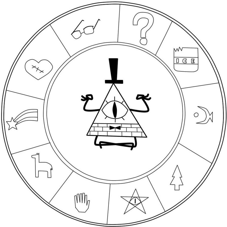 893x894 Unique Gravity Falls Coloring Pages Bill Gallery Free Coloring Pages