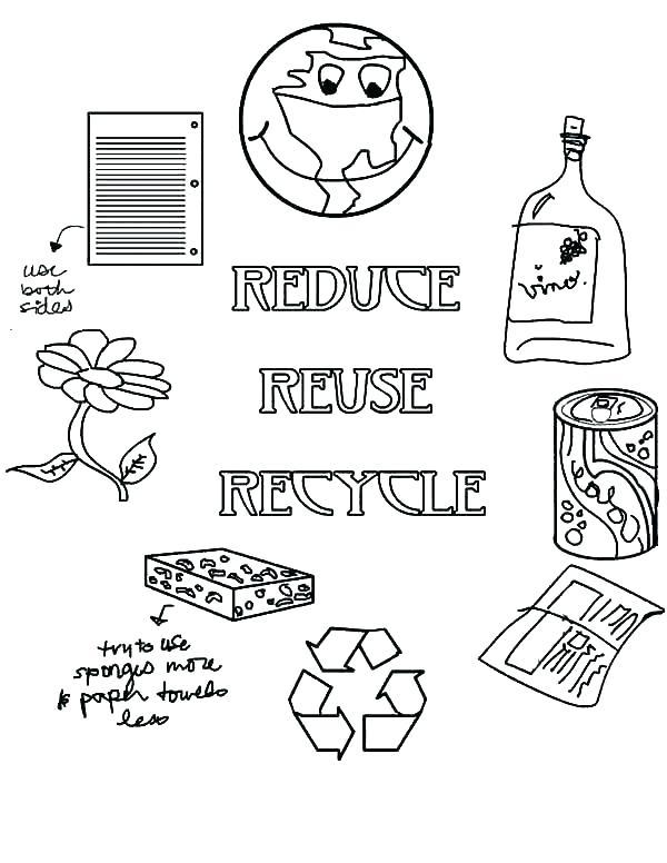 600x776 Recycling Coloring Pages Go Recycling On Earth Day Coloring Page