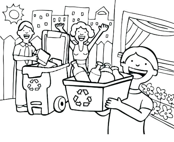 600x488 Recycling Coloring Pages Recycling Coloring Pages Coloring Page