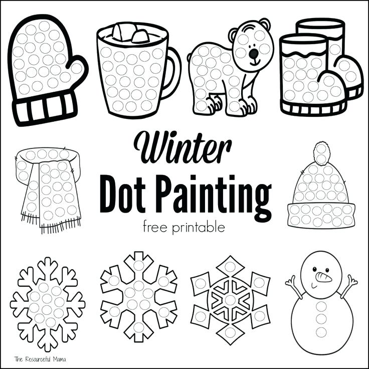736x736 Bingo Dauber Coloring Pages These Winter Dot Painting Are A Great